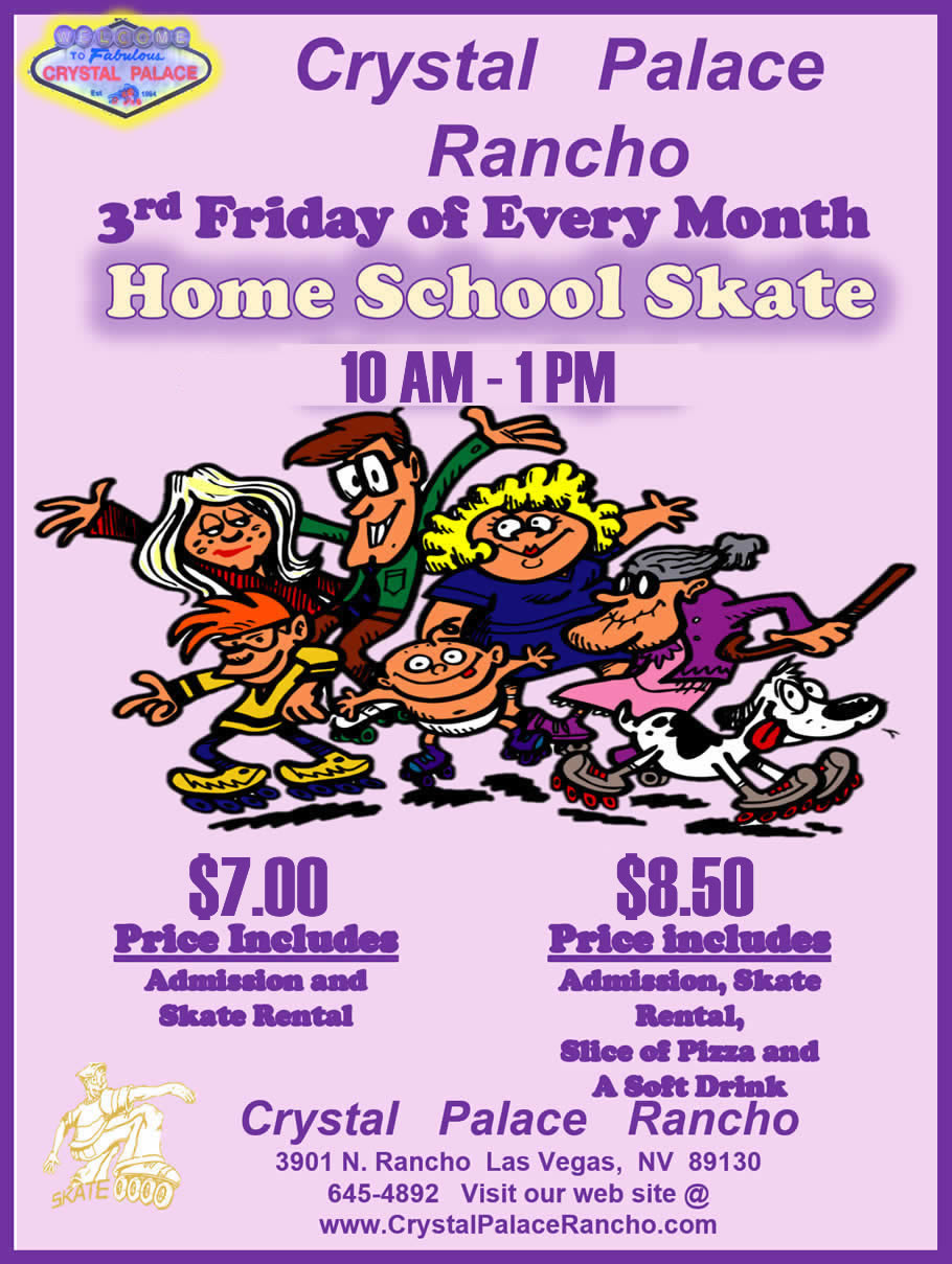 Home School 3rd Friday of Every Month - All Day Skate