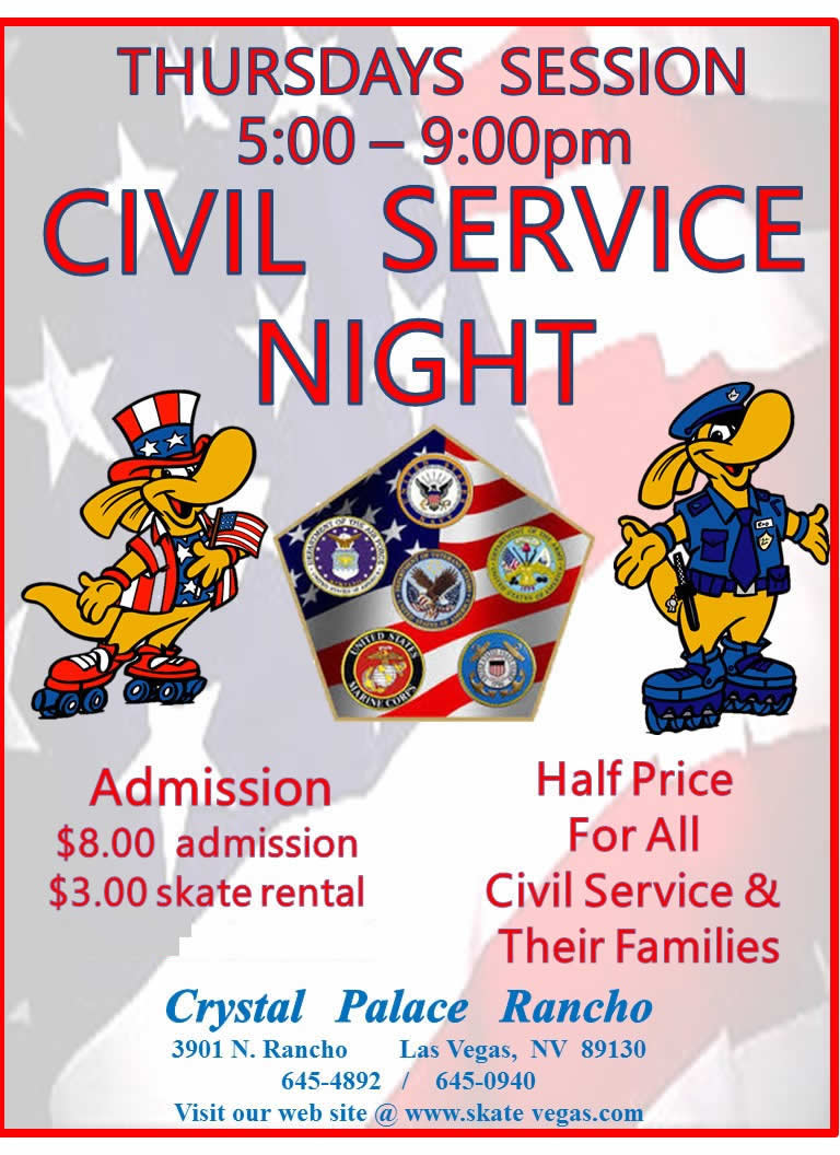 Civil Service Roller Skate Party Night